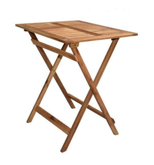 Dřevěný zahradní skládací stolek
