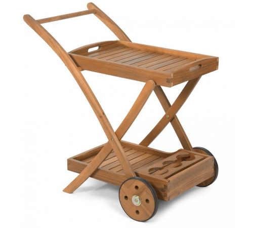 Moderní servírovací stolek na kolečkách