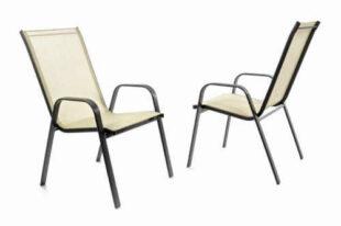 Sada 2 moderních židlí do exteriéru