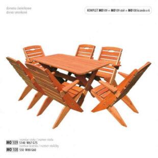 Zahradní set nábytku ze dřeva