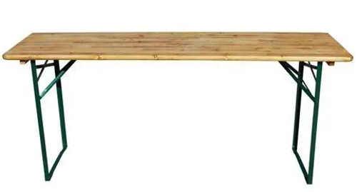 Dřevěná skládací zahradní lavička s kovovými nohami