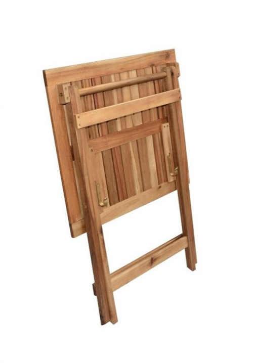 dřevěný moderní skládací stolek