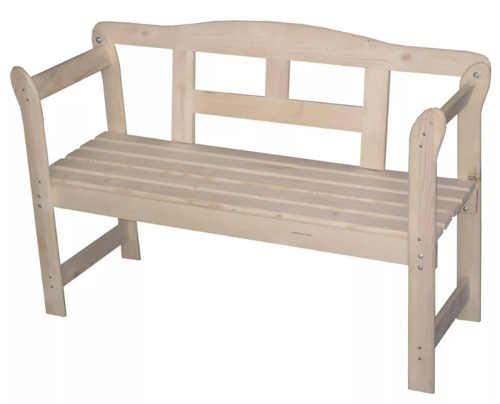 Levná smrková zahradní lavička Sconto ANJA