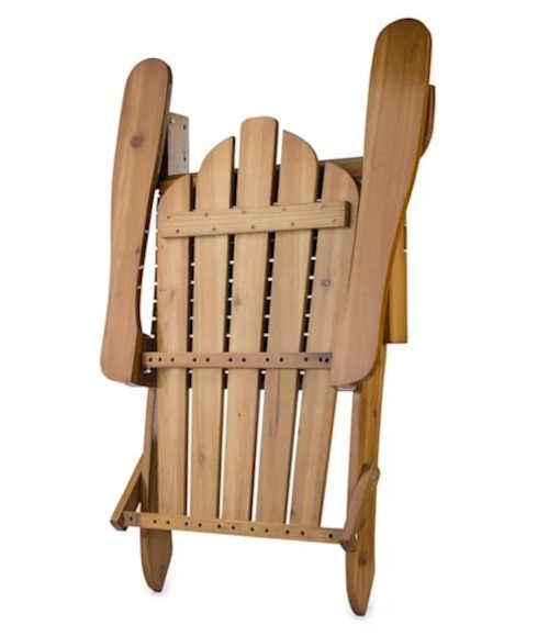 zahradní dřevěná skládací židle