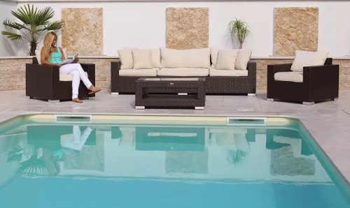 Zahradní ratanový set k bazénu