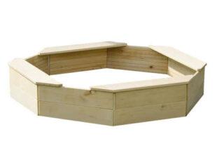 Osmihranné dřevěné dětské pískoviště