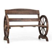 Zahradní dřevěná lavice v originálním designu