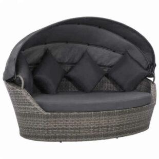 Zahradní ratanová postel v luxusním provedení