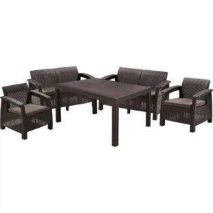 Zahradní set nábytku v imitaci ratanu