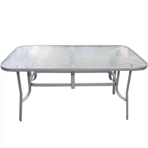skleněný stůl a čtyři židle