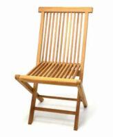 Zahradní skládací židle z týkového dřeva