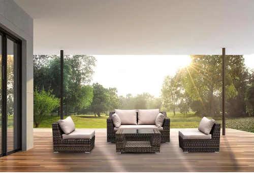 venkovní sestava nábytku v moderním designu