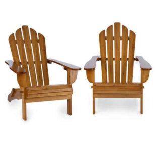 Set 2 zahradních skládacích židlí