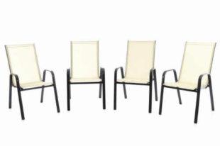 Set 4 ks - zahradní stohovatelná židle