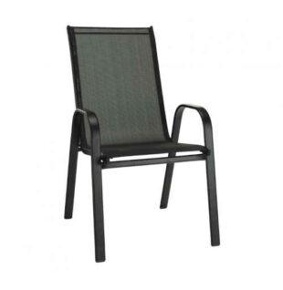 Stohovatelná židle v tmavě šedo-černé kombinaci
