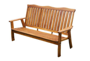 Zahradní bytelná dřevěná lavice