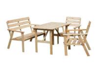 Zahradní dřevěný set NORDIC-FSC v přírodním dekoru