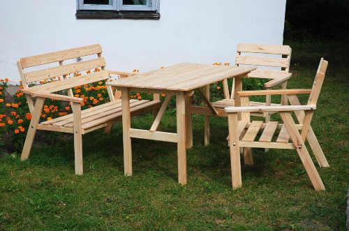 venkovní nábytkový set ze dřeva