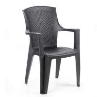 Plastová stohovatelná zahradní židle Eden antracit