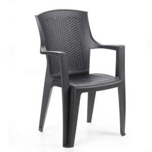 Plastová stohovatelná zahradní židle