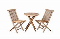 Zahradní set pro dva Divero z teakového dřeva