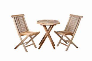 Zahradní set pro dva z teakového dřeva