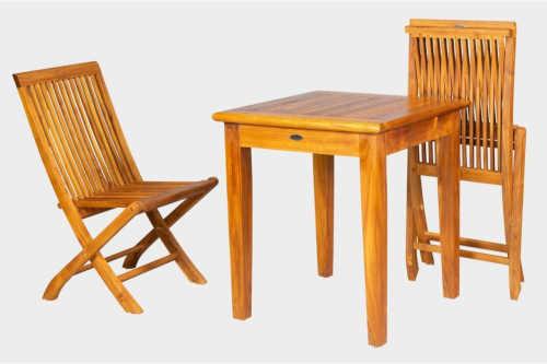 dřevěný balkonový set pro dvě osoby