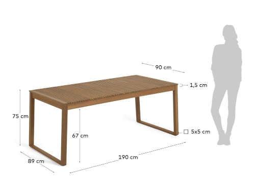 zahradní stůl z masivu