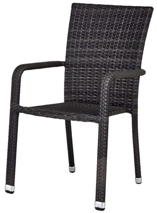 Černá zahradní židle umělý ratan