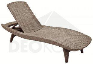 Polohovatelné zahradní lehátko z umělého ratanu ergonomický tvarované
